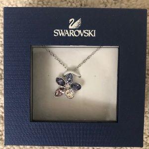 Swarovski Heritage mini flower pendant necklace